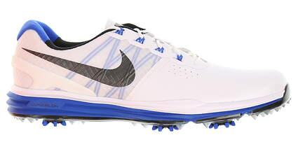 New Mens Golf Shoe Nike Lunar Control III 9 White/Black/Lyon-Blue MSRP $240