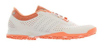 New Womens Golf Shoe Adidas Adipure Sport Medium 6 White/Chalk Coral MSRP $100