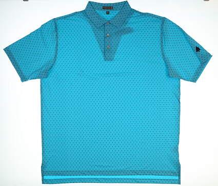 New W/ Logo Mens Peter Millar Shark Fin Golf Polo XX-Large XXL Blue MSRP $90 MS18EK24S