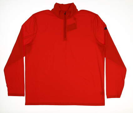 New W/ Logo Mens Ralph Lauren Polo Golf 1/4 Zip Pullover X-Large XL Orange MSRP $104 0404039