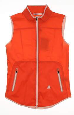New W/ Logo Womens Footjoy Golf Vest Medium M Orange MSRP $135