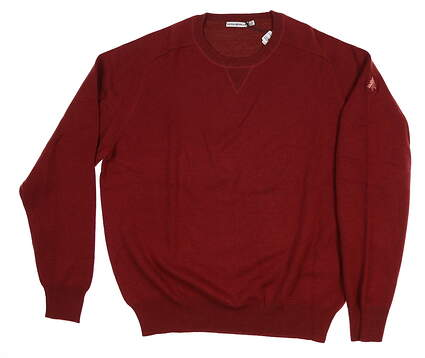New W/ Logo Mens Peter Millar Sweater Large L Red MSRP $150 MF14S80