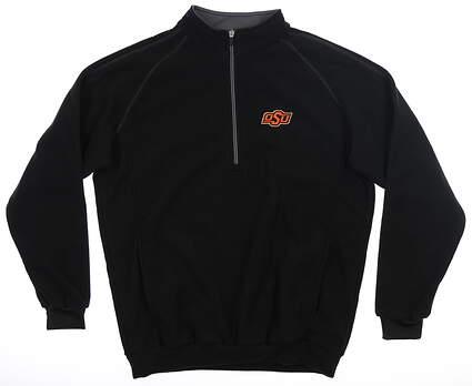 New W/ Logo Mens Straight Down Golf 1/4 Zip Sweater Small S Black MSRP $99 60358