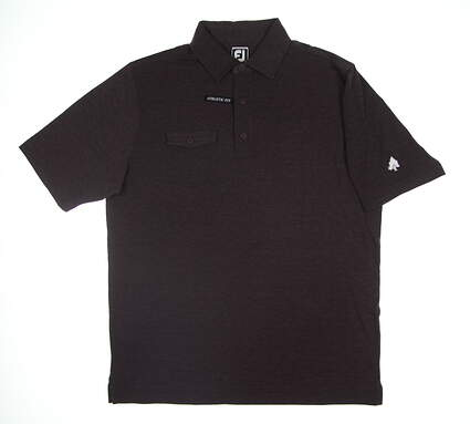 New W/ Logo Mens Footjoy Spun Poly Golf Polo Large L Plum MSRP $76 22848