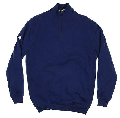 New W/ Logo Mens Mizuno Wind Sweater Large L Blue MSRP $165