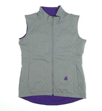 New W/ Logo Womens Footjoy Reversible Golf Vest X-Small XS Gray/Violet MSRP $129 27751