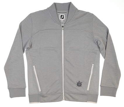 New W/ Logo Womens Footjoy Full Zip Bomber Jacket Large L Gray MSRP $165 27558