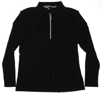 New Womens Jamie Sadock 1/2 Zip Pullover Large L Black MSRP $95 81113