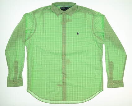 New Mens Ralph Lauren Button Up X-Large XL Green MSRP $125