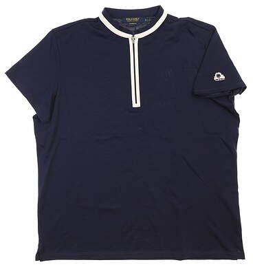 New W/ Logo Womens Ralph Lauren Golf Polo X-Large XL Navy Blue MSRP $90