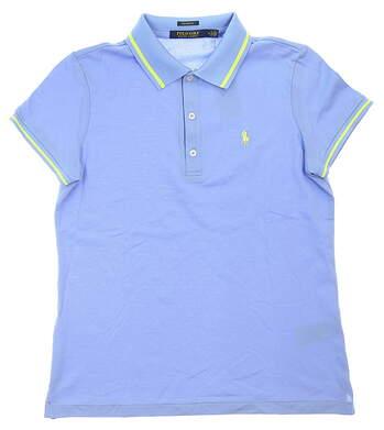 New Womens Ralph Lauren Tailored Fit Golf Polo Medium M Blue MSRP $124