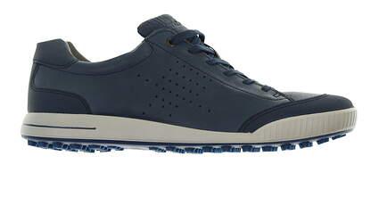 New Mens Golf Shoe Ecco Golf Street Retro 46 Denim Blue MSRP $180
