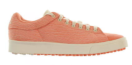 New Junior Golf Shoe Adidas Adicross Medium 4 Chalk Coral MSRP $50