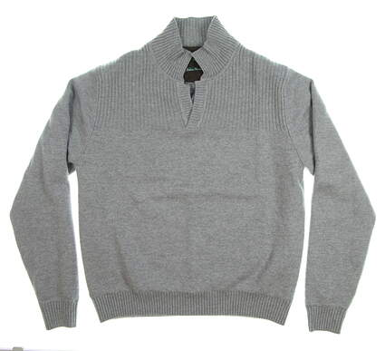New Mens Fairway & Greene Skaddan Wind Sweater Large L Gray MSRP $215 E11140