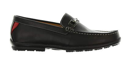 New Mens Shoe Footjoy Country Club Casuals Wide 8.5 Black MSRP $160
