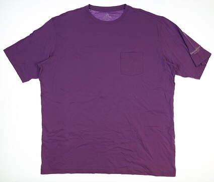 New W/ Logo Mens Peter Millar Seaside Collection T-Shirt XX-Large XXL Purple MSRP $49