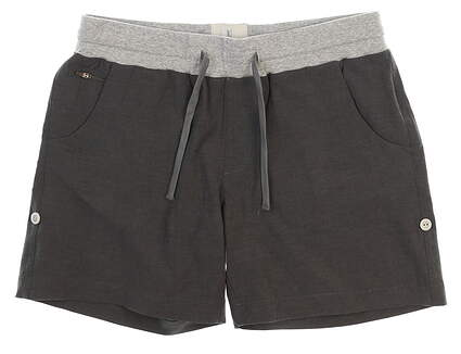 New Womens LinkSoul 4-Way Stretch Adjustable Length Shorts Size Medium M Charcoal MSRP $75