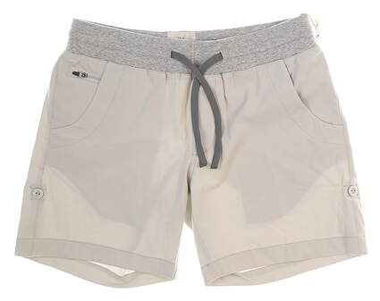 New Womens LinkSoul 4-Way Stretch Adjustable Length Shorts Size X-Small XS Chalk MSRP $75
