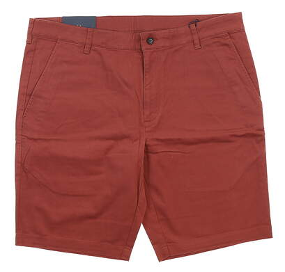 New Mens Oxford Courtland Cotton Chino Shorts Size 38 Apple Butter MSRP $89