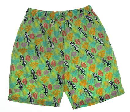 New Mens Peter Millar Swim Shorts Size Small S Green Multi MSRP $85 MS17P07