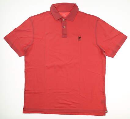 New W/ Logo Mens Peter Millar Seaside Solid Pique Golf Polo Large L Pink MSRP $78 MS17K68