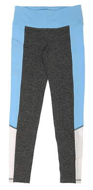 New Womens Footjoy Ankle Length Leggings Size X-Small XS Charcoal Heather/Sky/White MSRP $85
