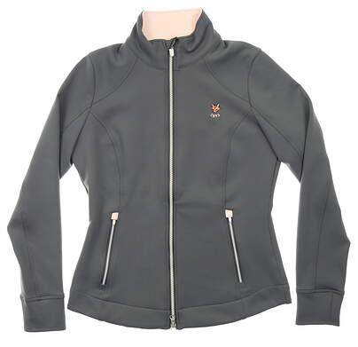 New W/ Logo Womens Zero Restriction Mikaela Full Zip Golf Jacket Small S Shadow MSRP $135 L373L