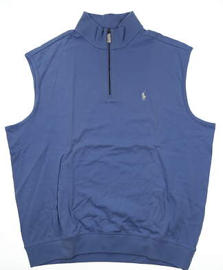 New W/ Logo Mens Ralph Lauren Golf Vest X-Large XL Blue MSRP $110