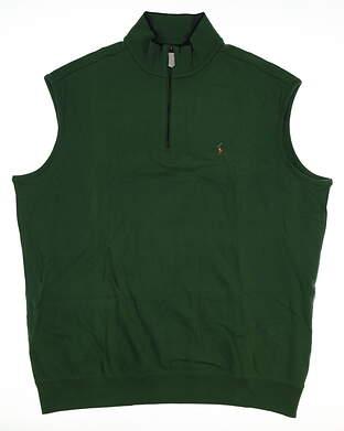 New W/ Logo Mens Ralph Lauren Golf Sweater Vest X-Large XL Green MSRP $104