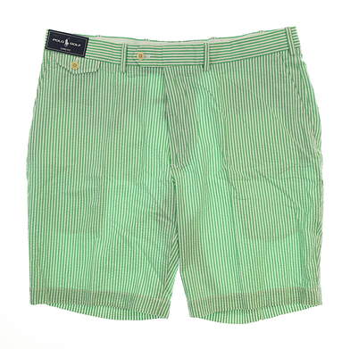 New Mens Ralph Lauren Links Fit Golf Shorts Size 38 Green/White MSRP $88