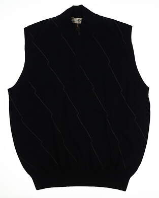 New Mens Fairway & Greene Mason Argyle Racker Sweater Vest Large L Navy MSRP $179 B11290