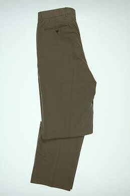 New Mens Cutter & Buck Golf Pants 35 x34 Tan MCB09761 MSRP $85