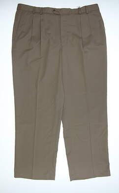 New Mens Cutter & Buck Golf Pants 40 x30 Tan MCB09761 MSRP $85