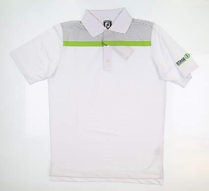 New W/ Logo Mens Footjoy Golf Polo Medium M White MSRP $83