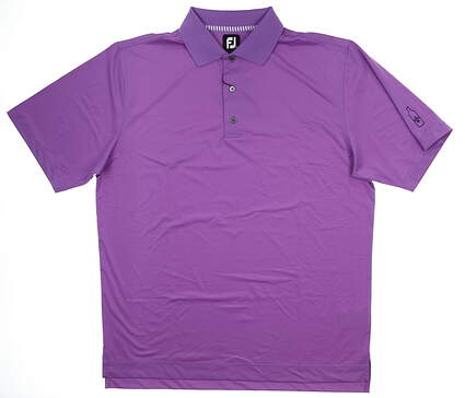 New W/ Logo Mens Footjoy Golf Polo Large L Purple MSRP $85