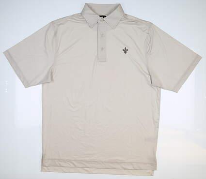 New W/ Logo Footjoy Golf Polo Medium M Tan MSRP $85