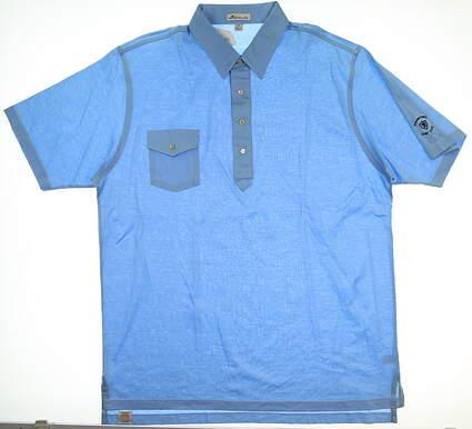 New W/ Logo Mens Peter Millar Golf Polo XX-Large XXL Blue MSRP $78