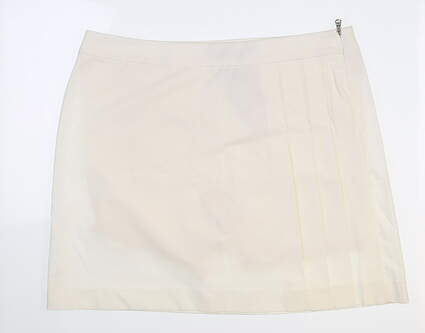 New Womens Ralph Lauren Golf Skort 10 Ivory MSRP $139