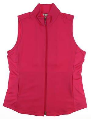 New Womens Greg Norman Golf Vest Medium M Pink MSRP $100