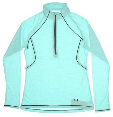 New Womens Under Armour Golf 1/2 Zip Pullover Medium M Blue MSRP $65