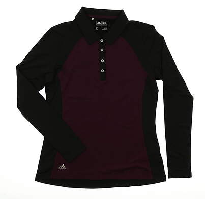 New Womens Adidas Golf Long Sleeve Polo Small S Multi MSRP $70 BC7004