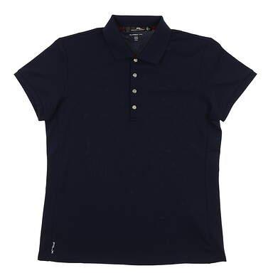 New Womens Ralph Lauren Golf Polo Medium M Navy Blue MSRP $85