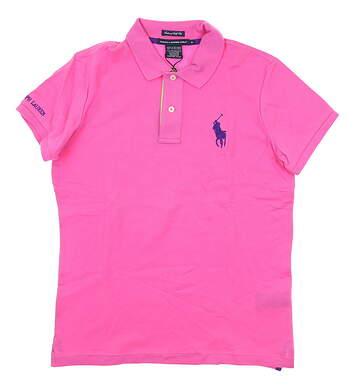 New Womens Ralph Lauren Golf Polo Medium M Pink MSRP $95