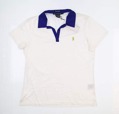 New Womens Ralph Lauren Golf Polo Large L White MSRP $94
