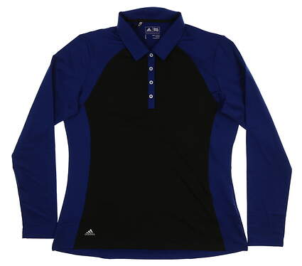 New Womens Adidas Long Sleeve Golf Polo Large L Multi MSRP $70 CF9310