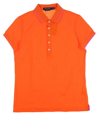 New Womens Ralph Lauren Golf Polo Medium M Orange MSRP $90