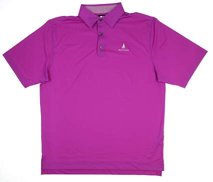 New W/ Logo Mens Footjoy Golf Polo Large L Purple 32922 MSRP $69