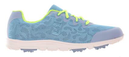 New Womens Golf Shoe Footjoy enJoy Medium 7.5 Blue/Green MSRP $80
