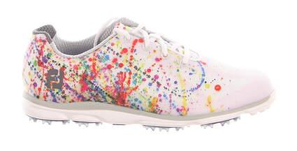 New Womens Golf Shoe Footjoy emPOWER Medium 6.5 White/Splatter MSRP $120