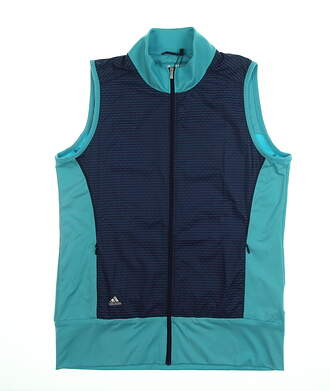 New Womens Adidas Technical Wind Vest Small S Blue MSRP $75 BC4049